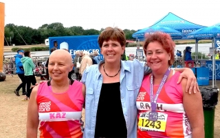 Flat Friends meet up at Race for Breast Cancer Care
