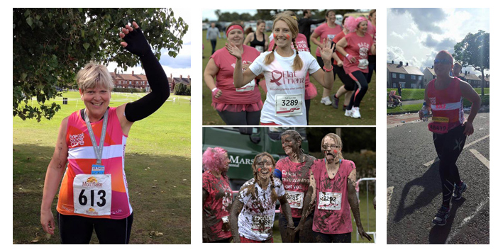 FlatFriendsUK running for Breast Cancer Care and Cancer Research 2015